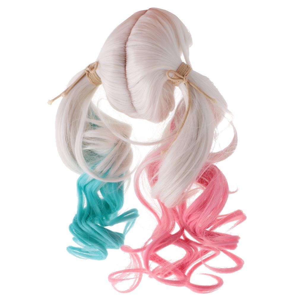 Straight-Wavy-Curly-Hair-Wig-for-18-039-039-Dolls-Clothes-Accessories thumbnail 47