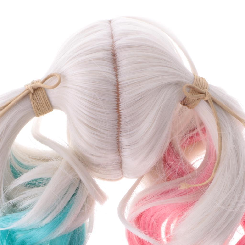 Straight-Gradient-Curly-Hair-Wig-for-18-039-039-Doll-Dress-up-Accessory thumbnail 51