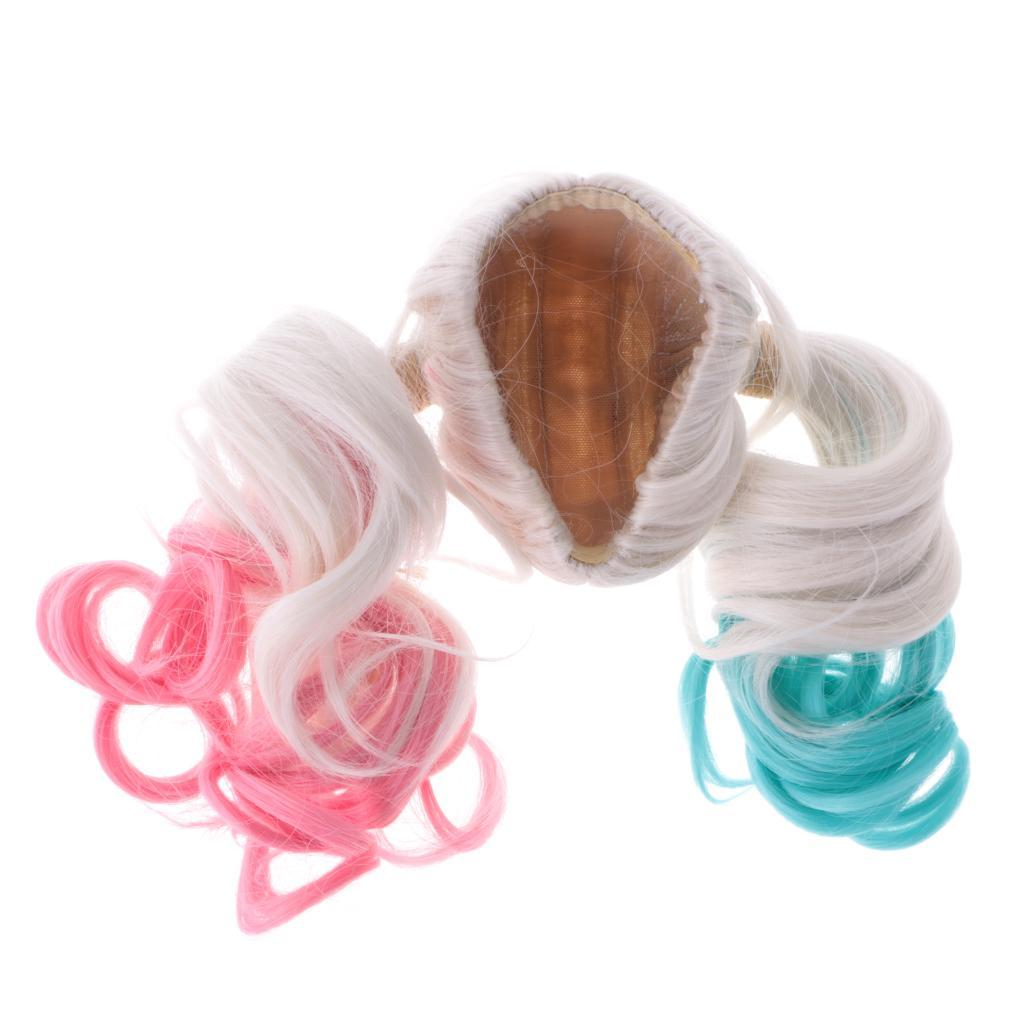 Straight-Wavy-Curly-Hair-Wig-for-18-039-039-Dolls-Clothes-Accessories thumbnail 48