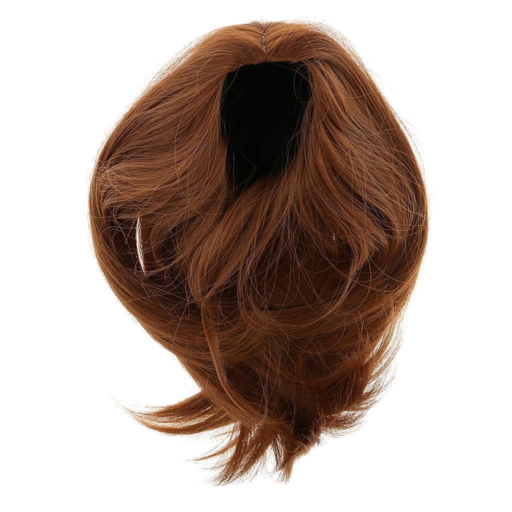 Straight-Gradient-Curly-Hair-Wig-for-18-039-039-Doll-Dress-up-Accessory thumbnail 73