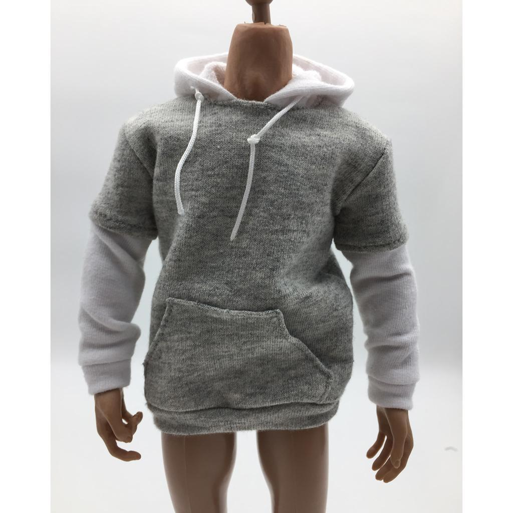 1-6-Scale-Mens-Long-Hoodie-Hooded-Sweatshirt-for-12inch-Action-Figure-Hot-Toys miniature 19