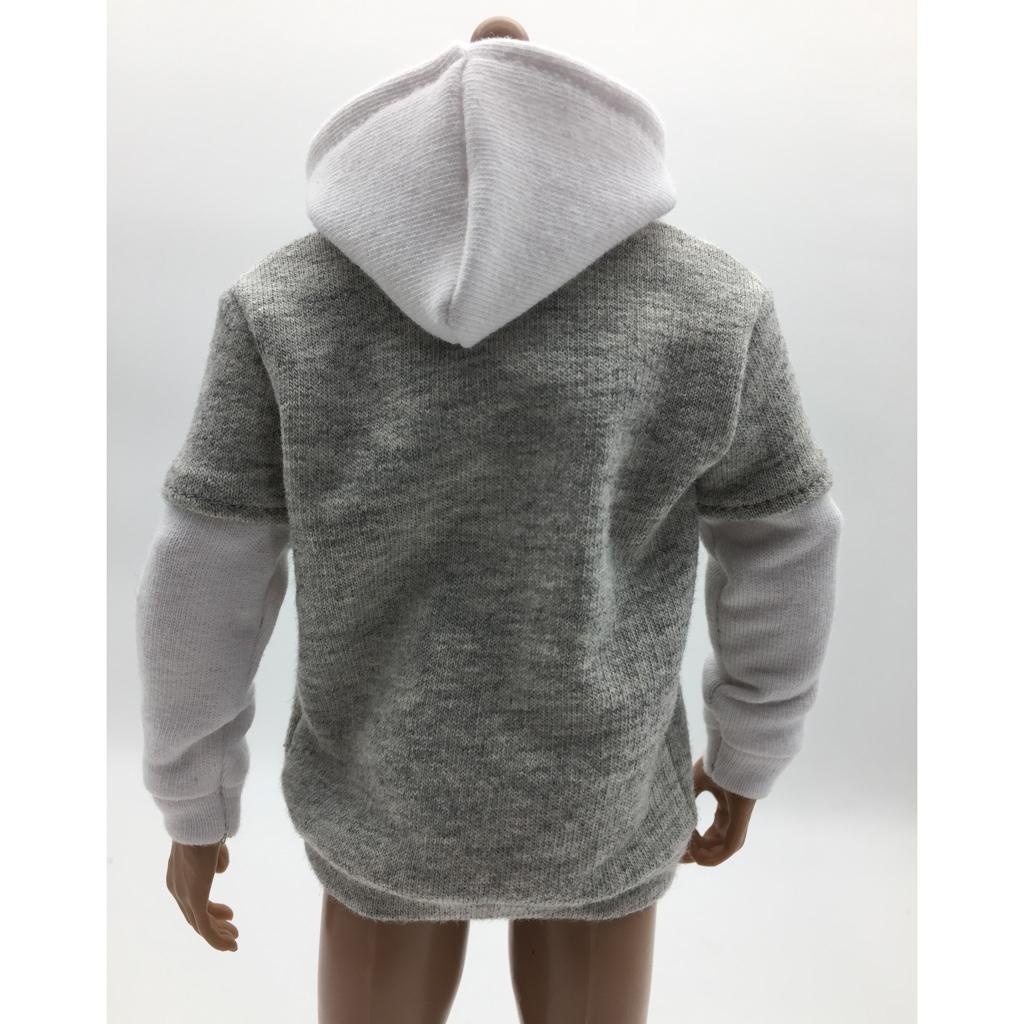 1-6-Scale-Mens-Long-Hoodie-Hooded-Sweatshirt-for-12inch-Action-Figure-Hot-Toys miniature 20