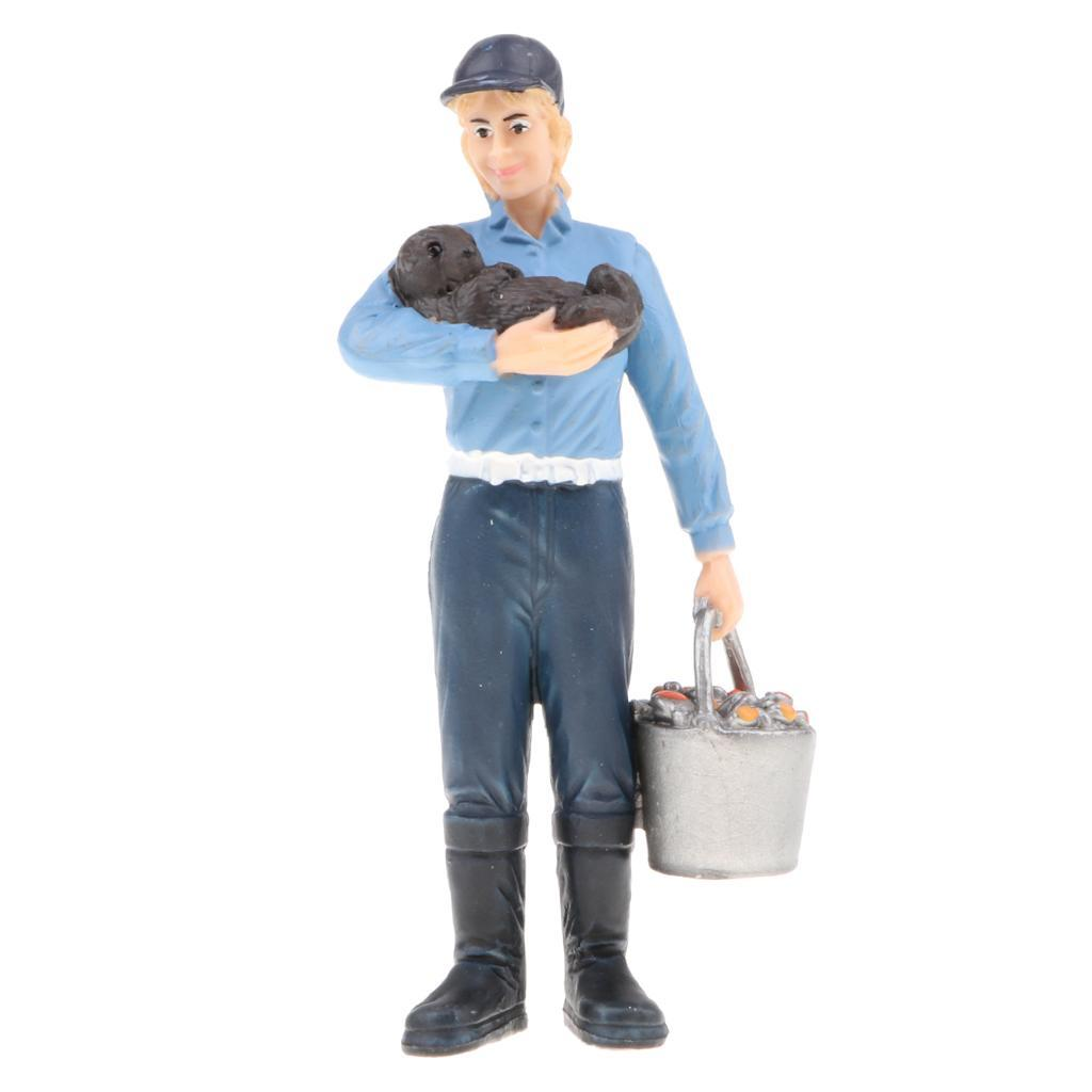 Plastic-Colorful-People-Model-Figure-Ranch-Worker-Figurines-Kid-Gift-Decor thumbnail 13