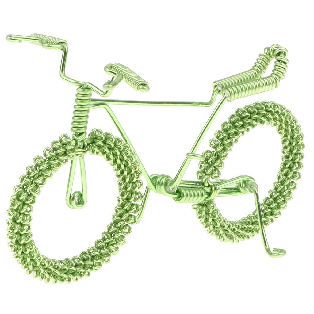 Giocattolo-Annata-Diecast-Bicicletta-Ornamento-Scrivania-Decorazione-Casa miniatura 3