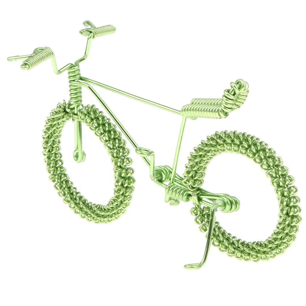 Giocattolo-Annata-Diecast-Bicicletta-Ornamento-Scrivania-Decorazione-Casa miniatura 4