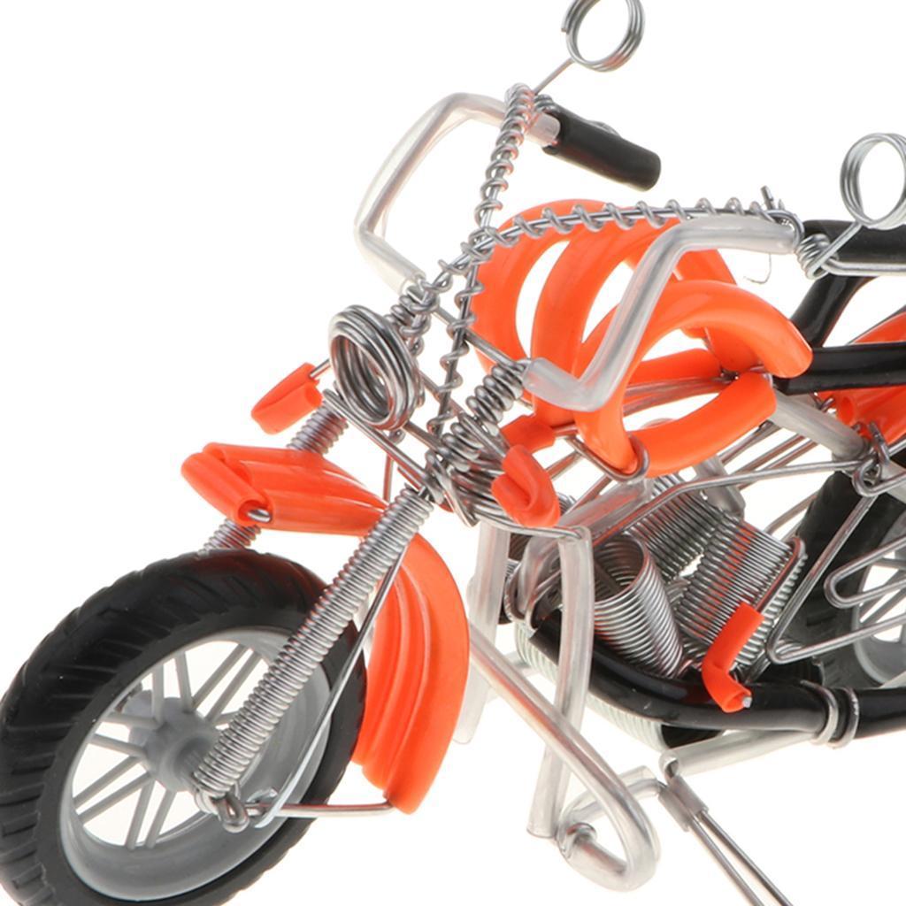 Modello-Di-Motocicletta-In-Metallo-Realistico-In-Ufficio-Vintage-Home-Decor miniatura 19
