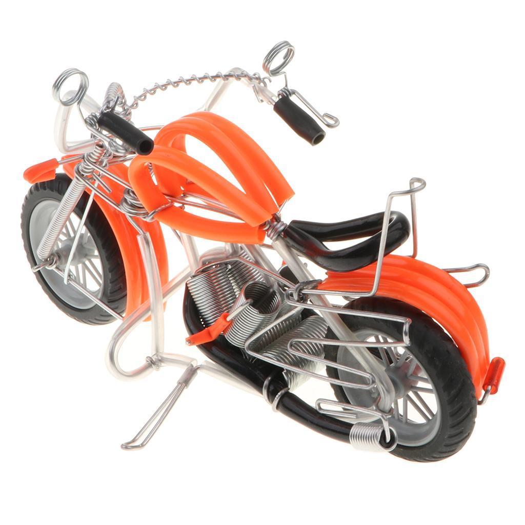 Mini-modello-di-moto-in-metallo-modello-di-moto-artigianato-perfetto-da miniatura 21
