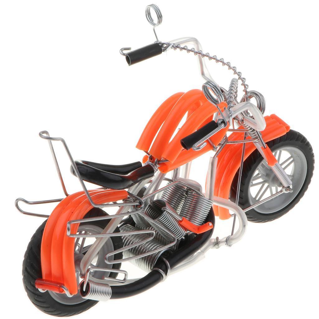 Modello-Di-Motocicletta-In-Metallo-Realistico-In-Ufficio-Vintage-Home-Decor miniatura 20