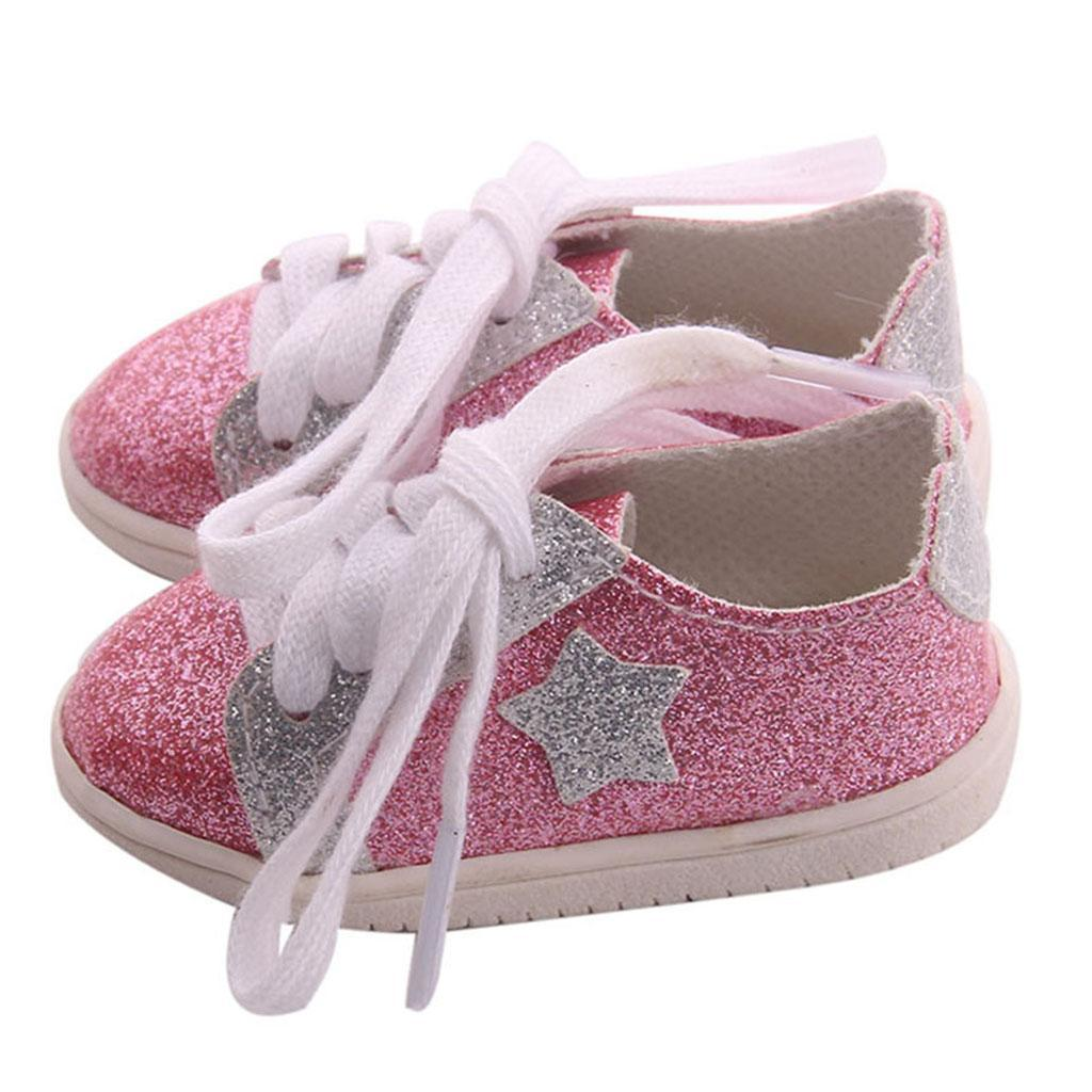 18inch-Girl-Doll-Fairy-Leisure-Shoes-for-American-Doll-Xmas-Gift-Accessories miniature 9
