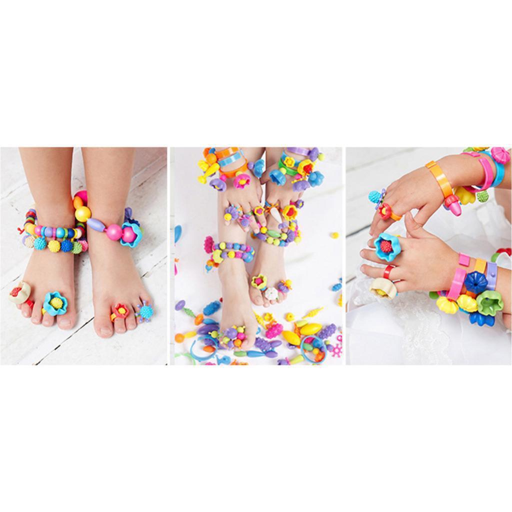 300pcs-DIY-Jewelry-Kids-Pop-Beads-Snap-Together-Children-Fun-Fashion-Kit miniature 8