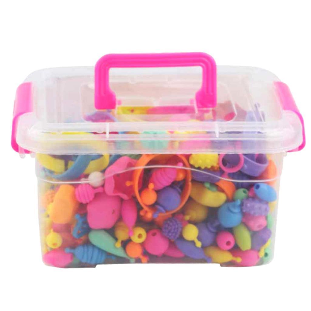 300pcs-DIY-Jewelry-Kids-Pop-Beads-Snap-Together-Children-Fun-Fashion-Kit