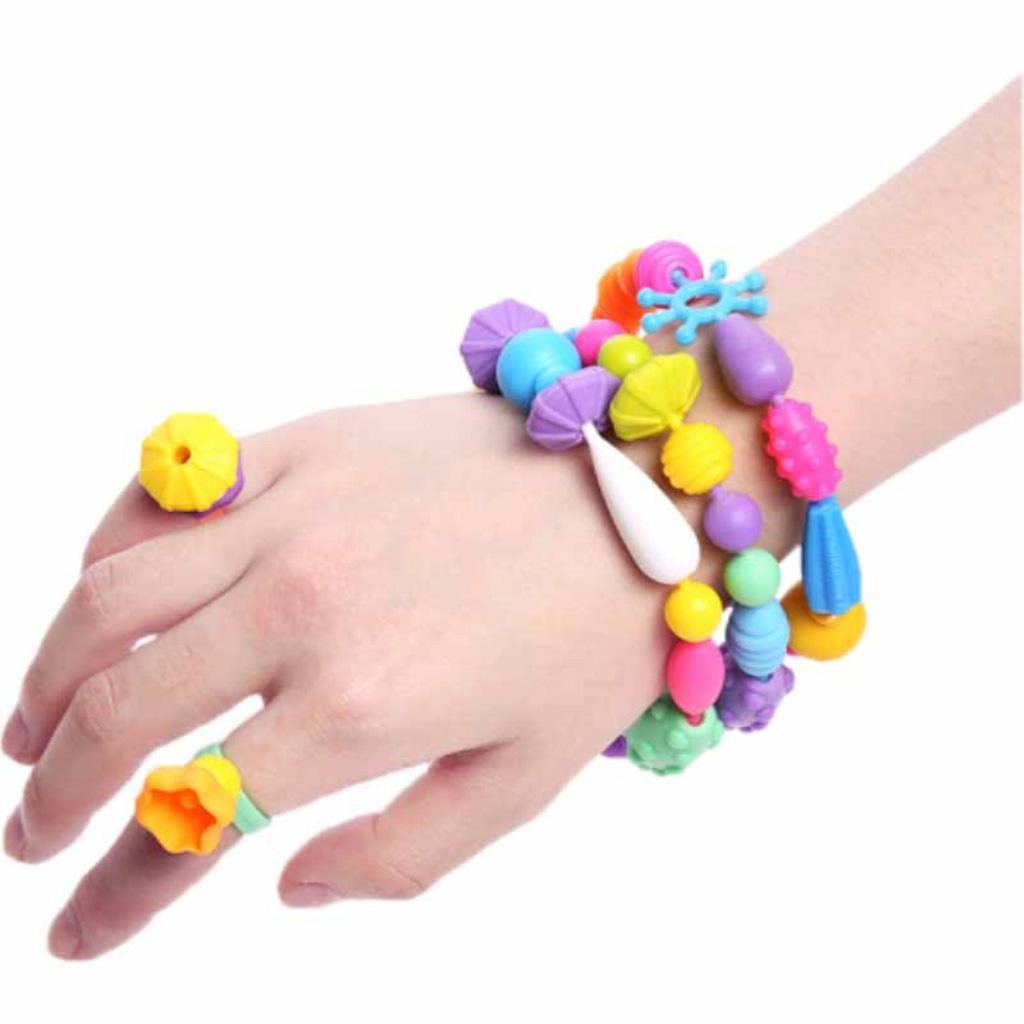 300pcs-DIY-Jewelry-Kids-Pop-Beads-Snap-Together-Children-Fun-Fashion-Kit miniature 7