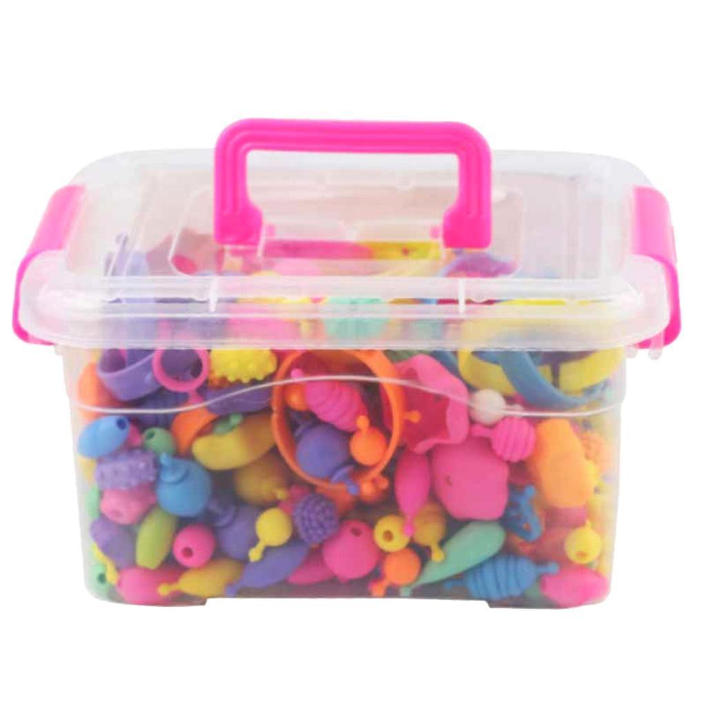 300pcs-DIY-Jewelry-Kids-Pop-Beads-Snap-Together-Children-Fun-Fashion-Kit miniature 2