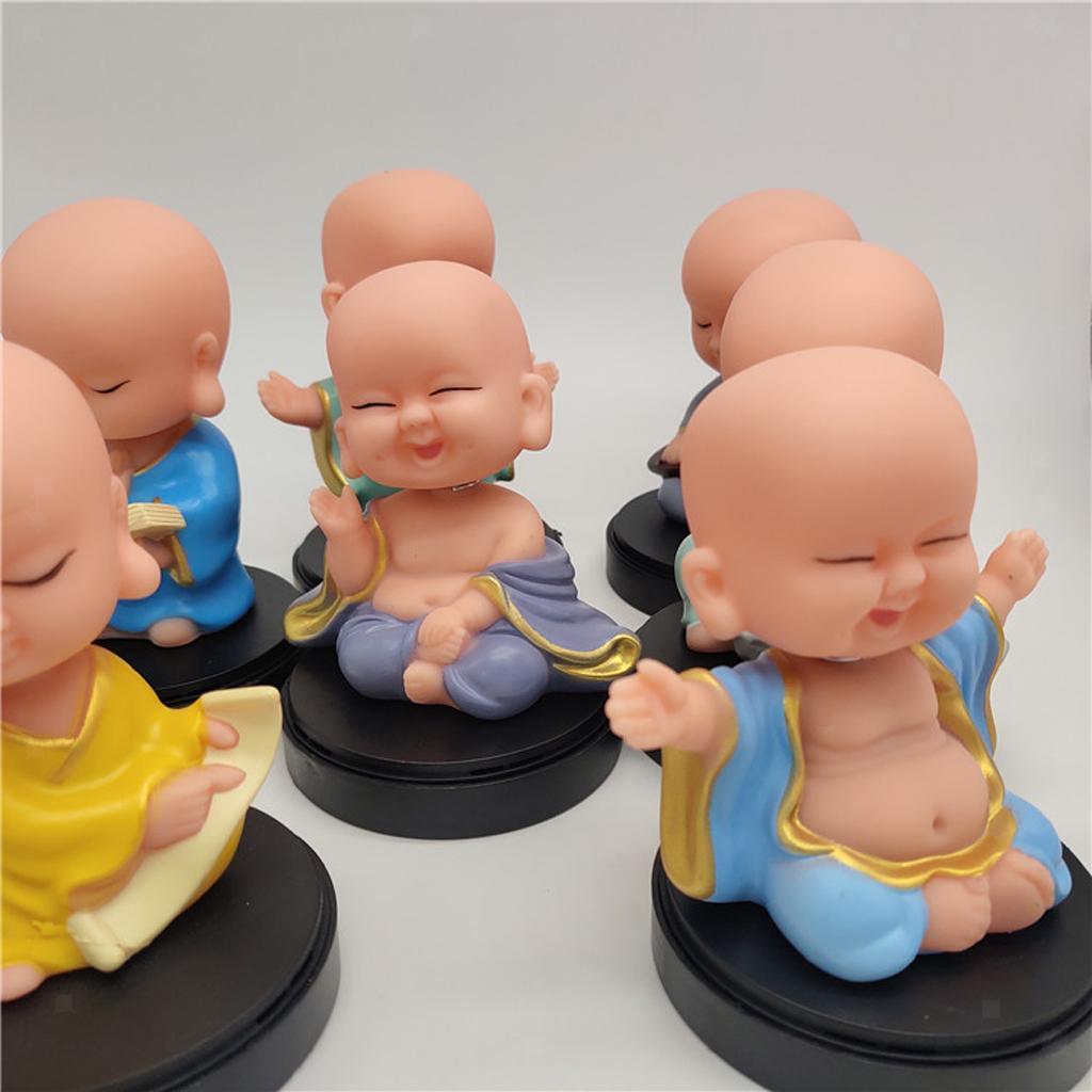 Solar-Powered-Swinging-Buddhist-Monk-Bobble-Toy-Home-Decor thumbnail 16