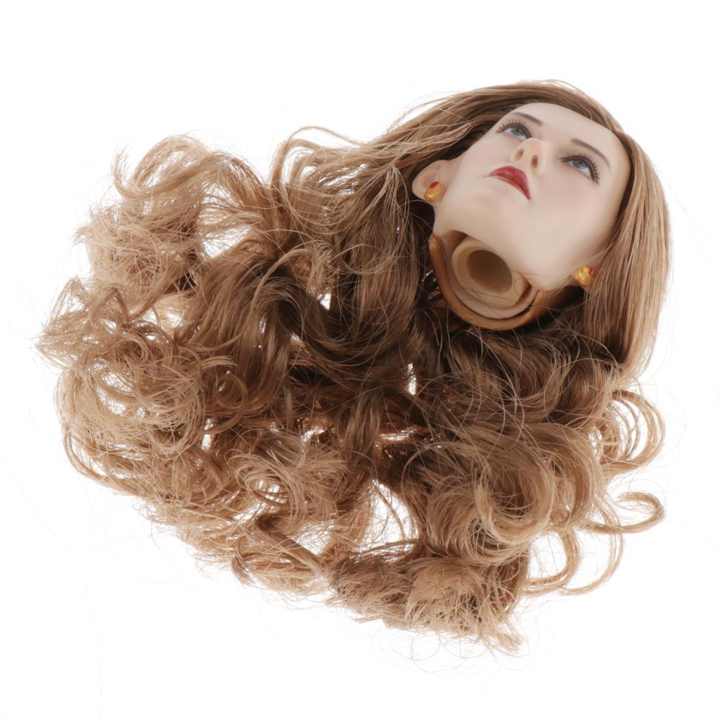 1-6-Lady-Head-Sculpt-Female-Model-for-12-034-HT-Action-Figure-Hot-Toys thumbnail 12