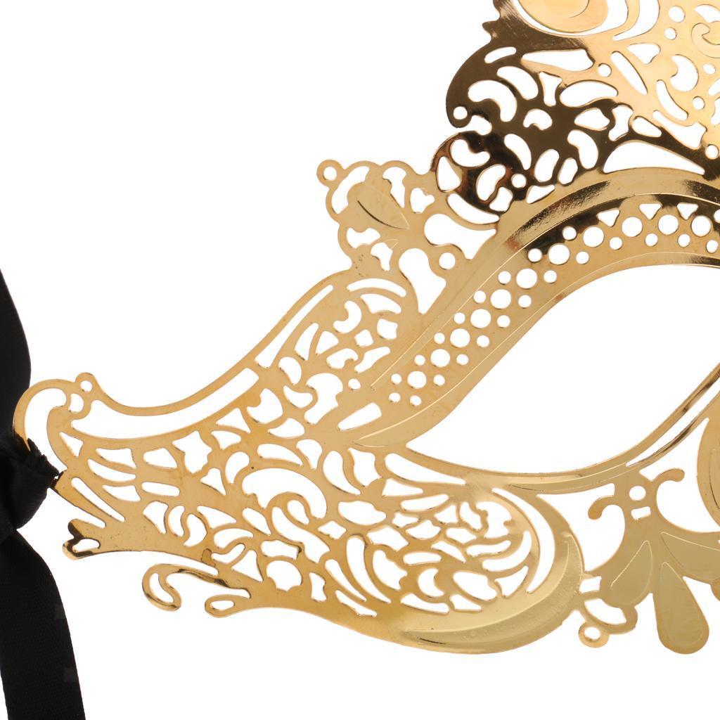 Venetian-Gold-Filigree-Eye-Mask-Masquerade-Ball-Fancy-Dress-for-Man-Women miniature 9