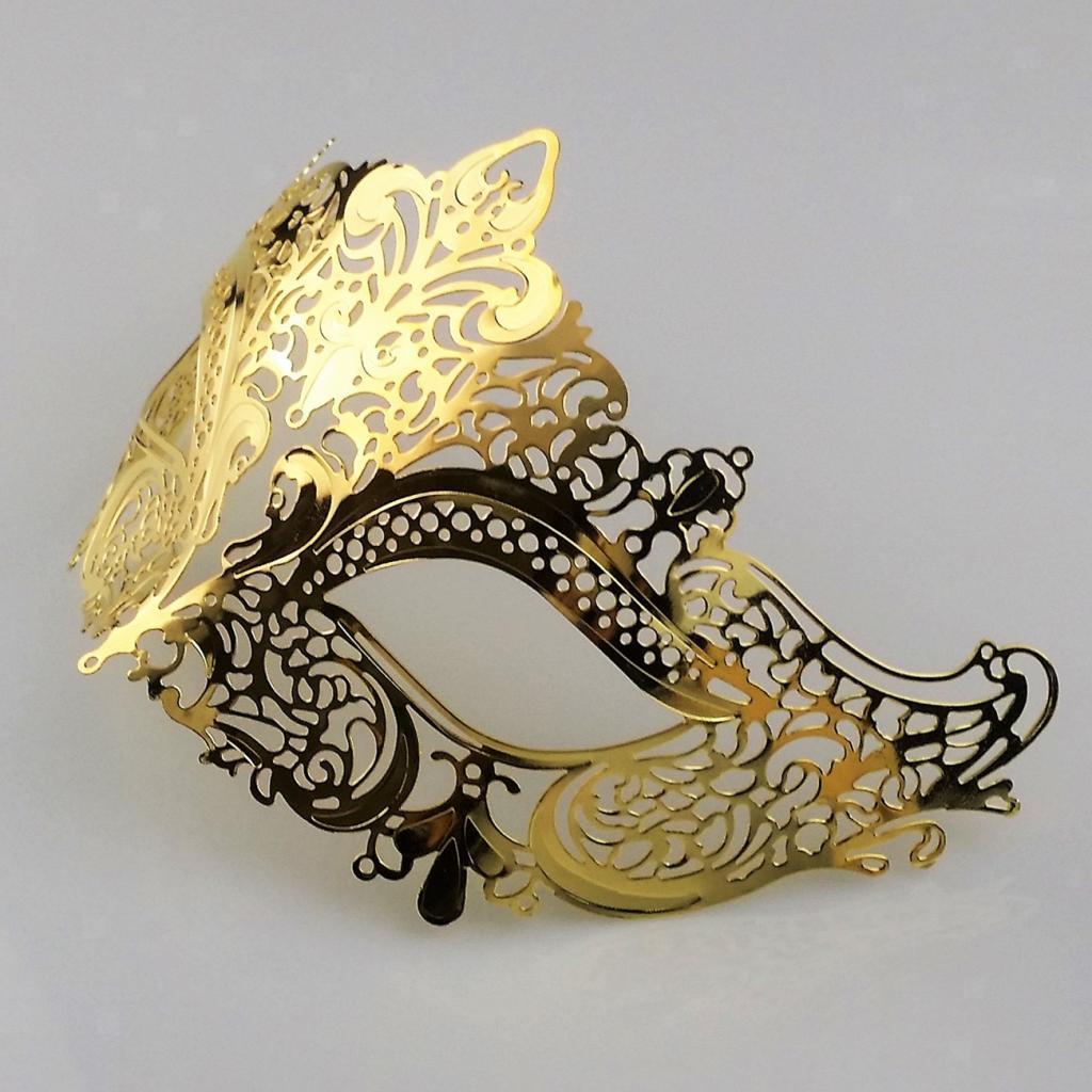 Venetian-Gold-Filigree-Eye-Mask-Masquerade-Ball-Fancy-Dress-for-Man-Women miniature 6