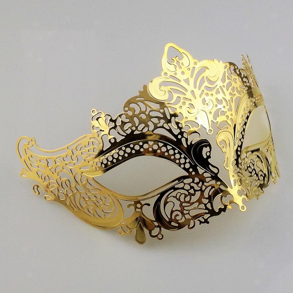 Venetian-Gold-Filigree-Eye-Mask-Masquerade-Ball-Fancy-Dress-for-Man-Women miniature 7