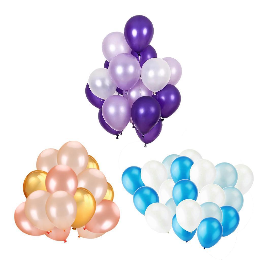 30-Pieces-Ballon-de-Latex-Decoration-pour-Fete-d-039-Anniversaire-Mariage miniature 5