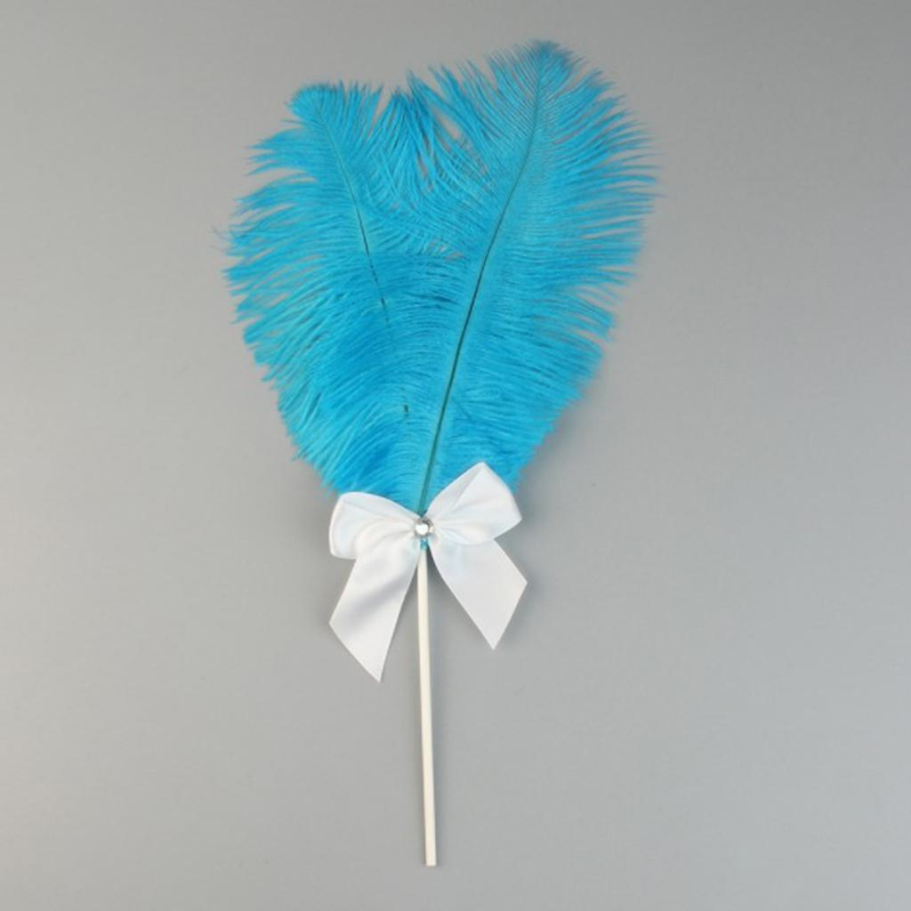 Cake-Topper-Feather-Decor-Cake-Insert-Card-For-Wedding-Party thumbnail 19