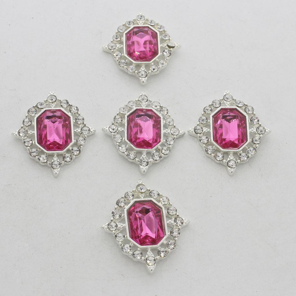 5-Pieces-Acrylique-plat-soutenu-Strass-Cabochons-Bijoux-Decoration miniature 21