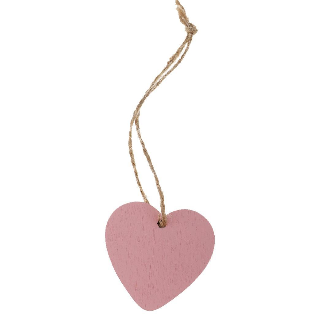 Congratulations Small Wooden Heart Tag 3cm Gift Mini Tiny Hanging Sign Message