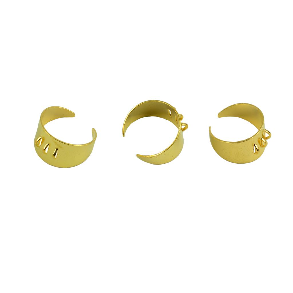 10pcs Adjustable Blank Rings Base Settings with 3 Loops Jewelry Making Findings