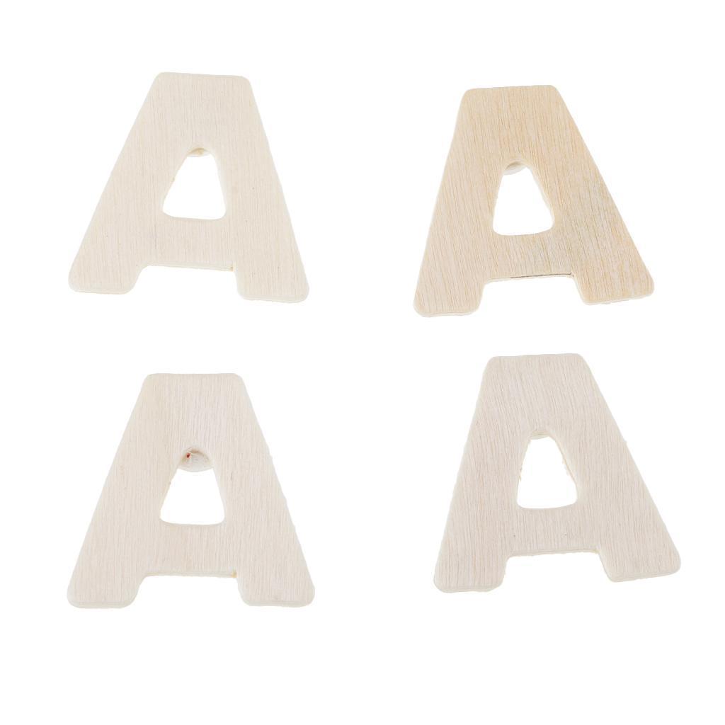 3D Holz Buchstaben weiß A-Z Sonderzeichen Deko Schrift Alphabet Buchstabe Dekor