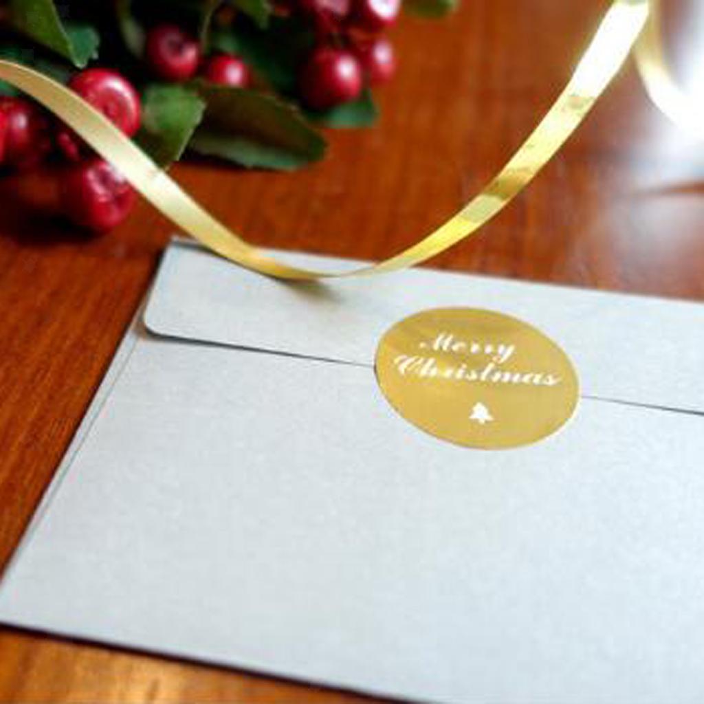 12pcs-adesivo-autoadesivo-che-timbra-oro-Patches-Applique-Natale miniatura 8