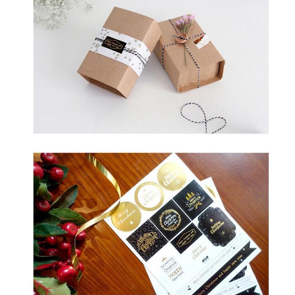 12pcs-adesivo-autoadesivo-che-timbra-oro-Patches-Applique-Natale miniatura 9