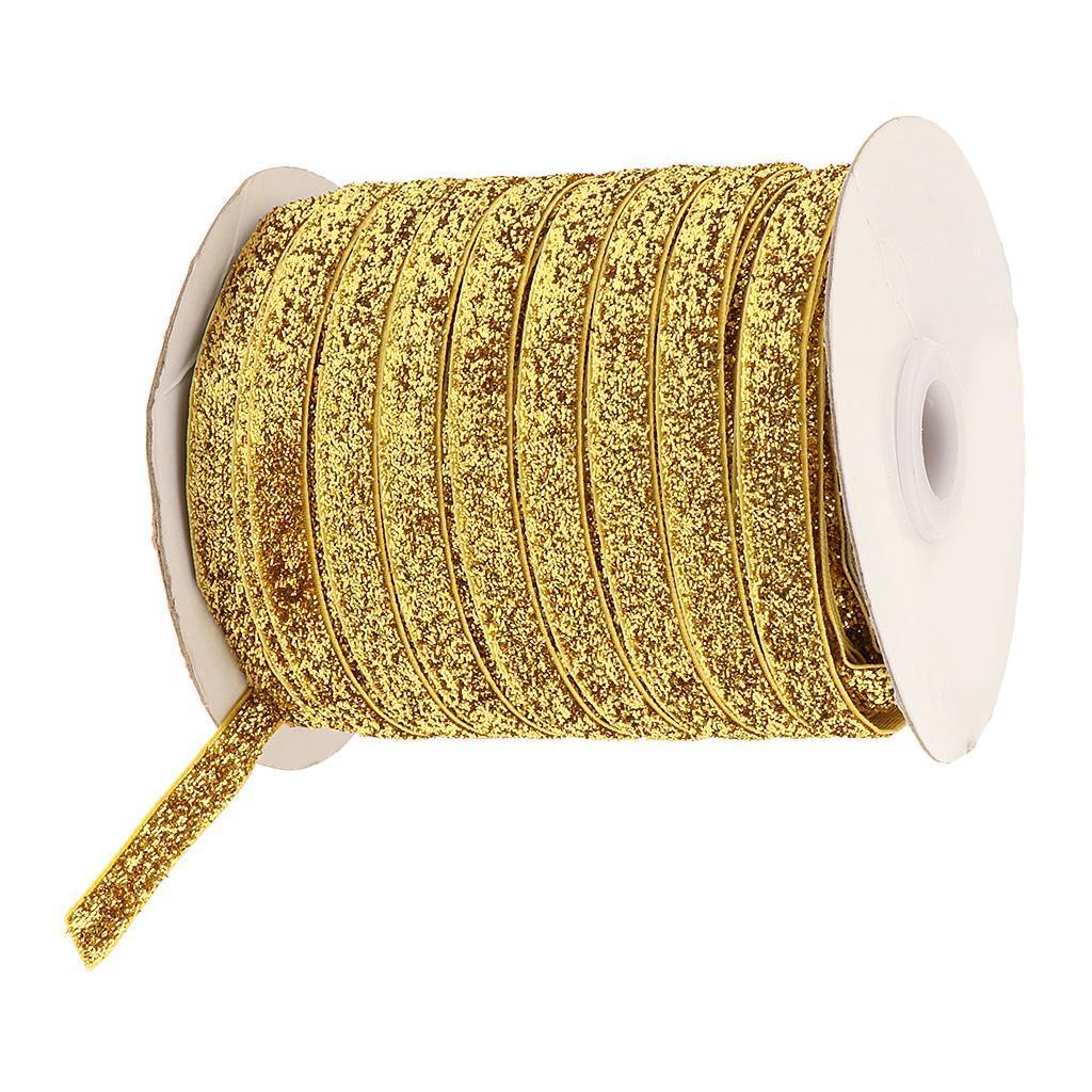 49Yds-3-8-034-Glitter-Velvet-Grosgrain-Ribbon-for-DIY-Crafts-Headband-Clips-Bow thumbnail 10