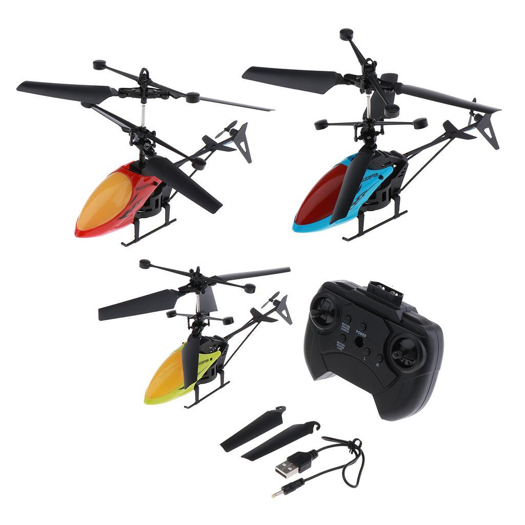 Mini-Helicopter-RC-Drone-Flash-Light-Toys-Outdoor-Airplane-Kids-ABS-Plastic miniature 3