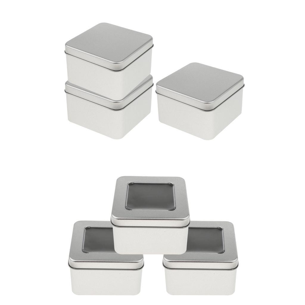 3er Set kleine Dose Normal, Klar, leerer Aufbewahrungsbehälter aus Zinn