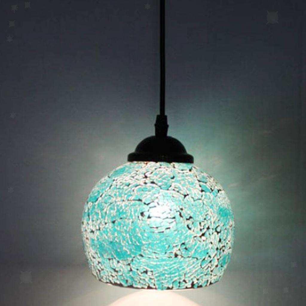 Mosaic-Style-Hanging-Light-Ceiling-Pendant-Lamp-Retro-Lampshade-Cafe-Restaurant thumbnail 40