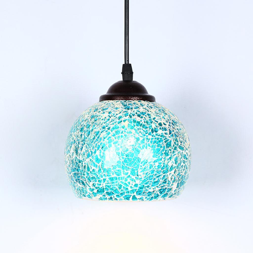 Mosaic-Style-Hanging-Light-Ceiling-Pendant-Lamp-Retro-Lampshade-Cafe-Restaurant thumbnail 38
