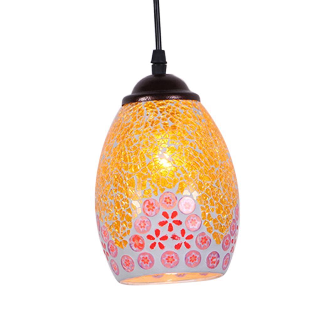 Mosaic-Style-Hanging-Light-Ceiling-Pendant-Lamp-Retro-Lampshade-Cafe-Restaurant thumbnail 77