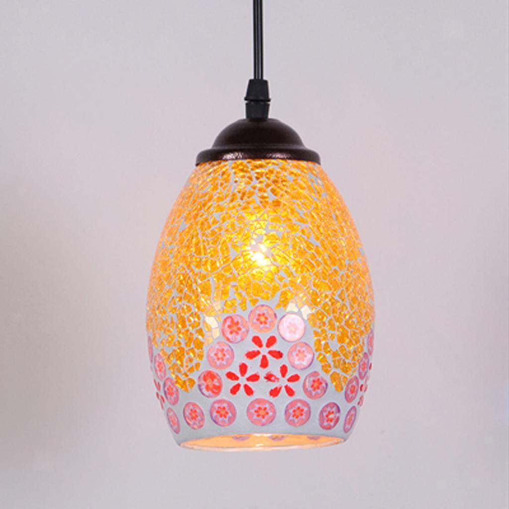 Mosaic-Style-Hanging-Light-Ceiling-Pendant-Lamp-Retro-Lampshade-Cafe-Restaurant thumbnail 78