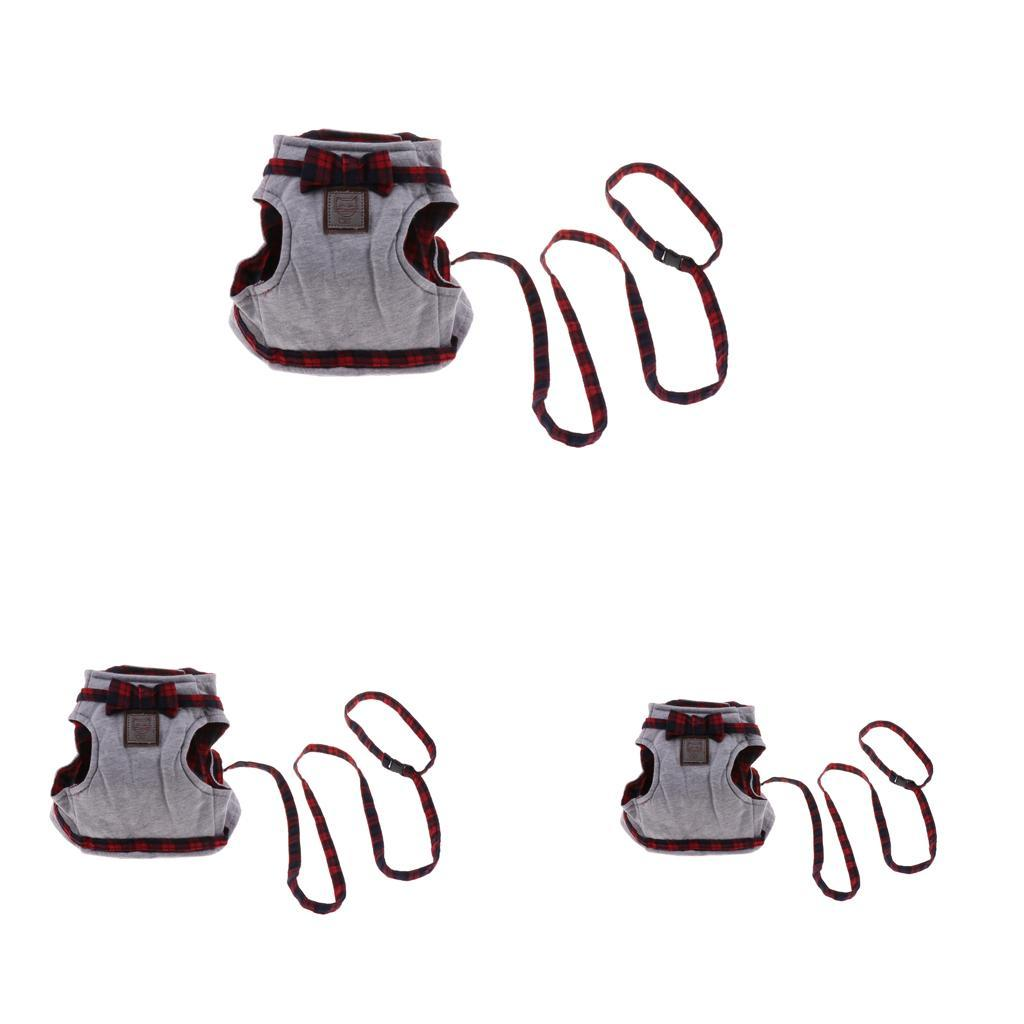 Harnais-de-Securite-Laisse-Ajustable-Gilet-de-Britannique-Mode-Laisse miniature 5