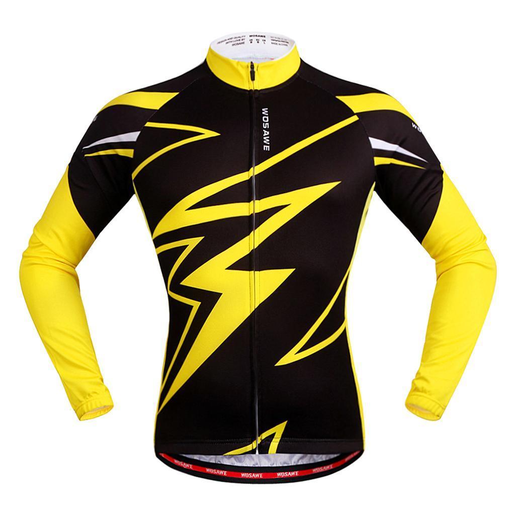 Jersey-Maillot-de-Cyclisme-Velo-Enfant-Garcon-Fille-Manche-Longue-Respirant miniature 11