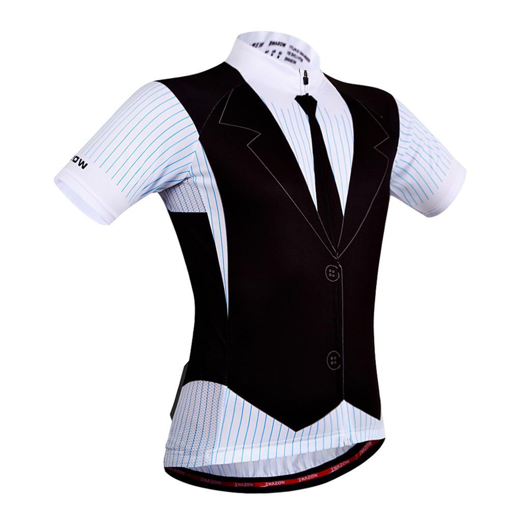 Hommes-Maillot-Cyclisme-Respirantes-Sechage-Rapide-Jersey-Manche-Court-Velo miniature 23
