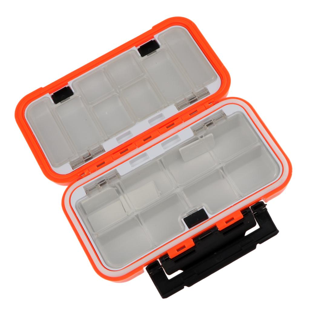 Mini Fishing Tackle Box Multiple Compartments Container Portable Waterproof Q4O7