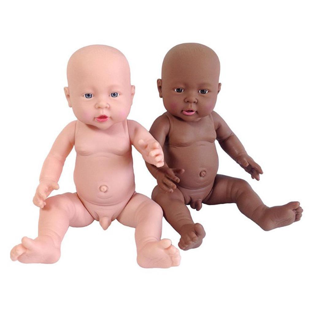41cm Lifelike Baby Boy Doll Vinyl African-American Newborn Infant Doll