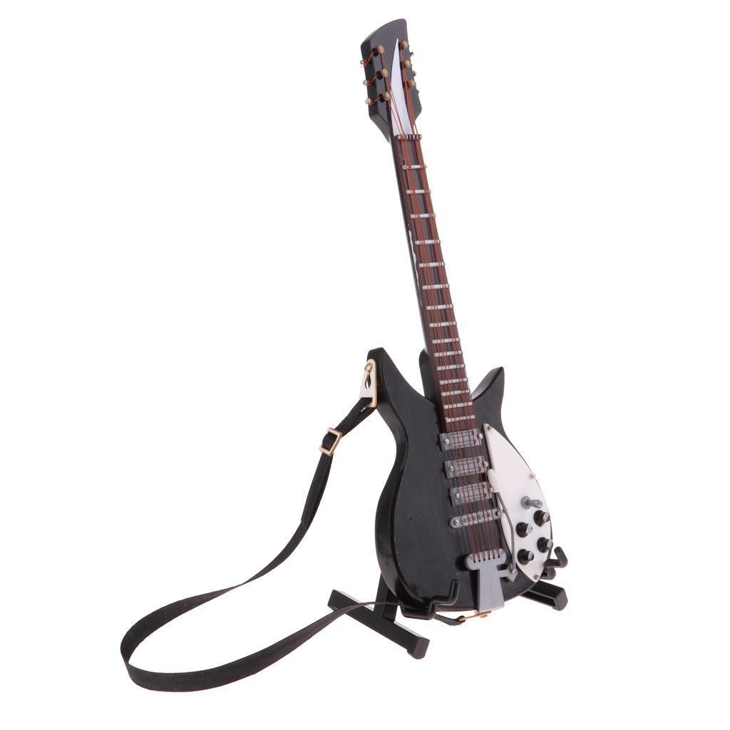 Handgemachte 1/6 hölzerne elektrische Gitarre akustische Bassgitarre