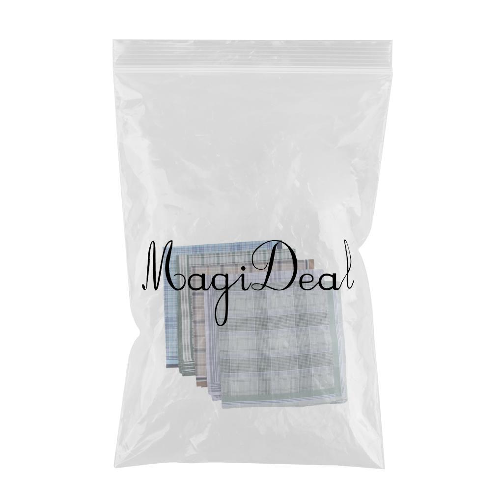 5 PACKS Men's Handkerchiefs 100 % Cotton Premium Pocket Square Hankies Gift