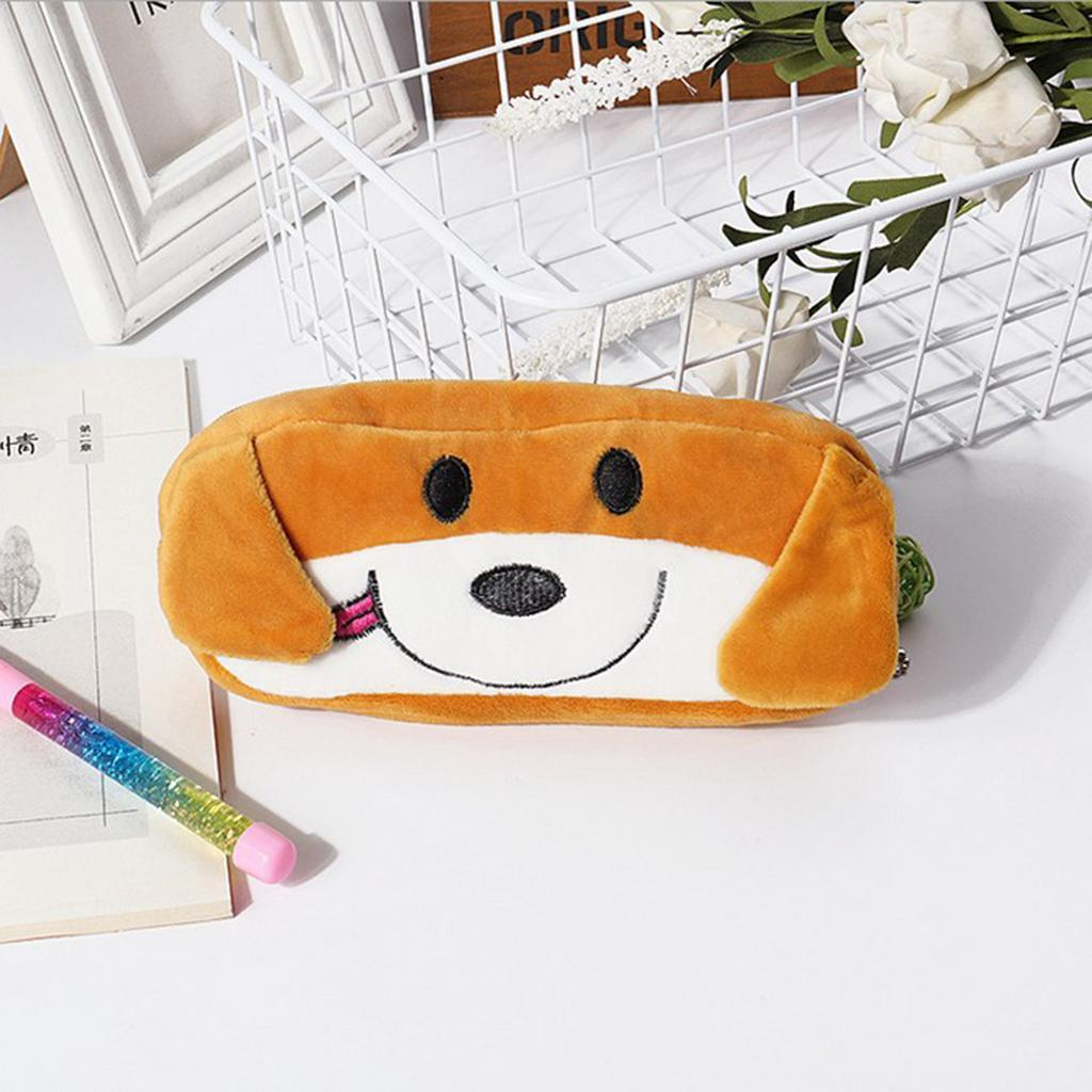 Pencil-Pouch-Plush-Stationery-Bag-Animal-Cosmetic-Bags-School-Supplies thumbnail 6