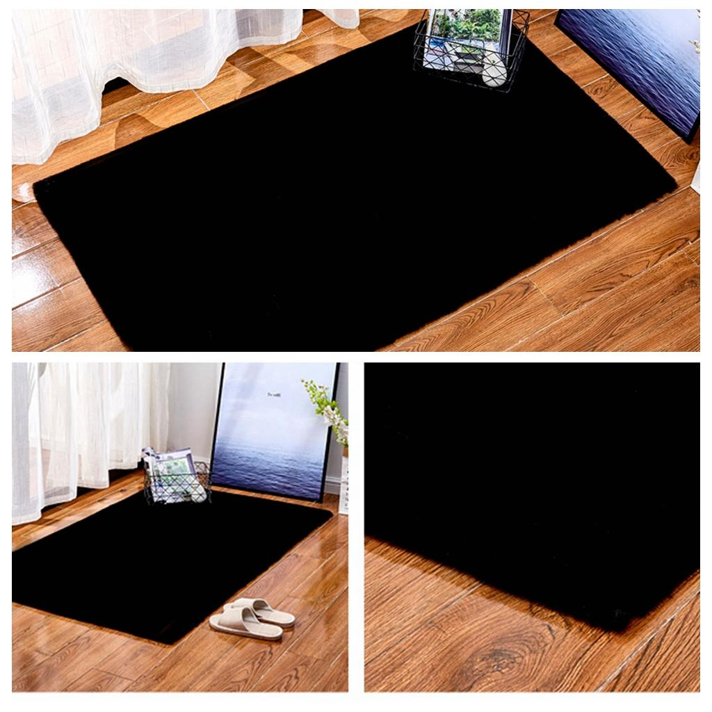 Details About Soft Faux Fur Area Rugs Bedroom Floor Shaggy Plush Carpet Bedside Rug Mat
