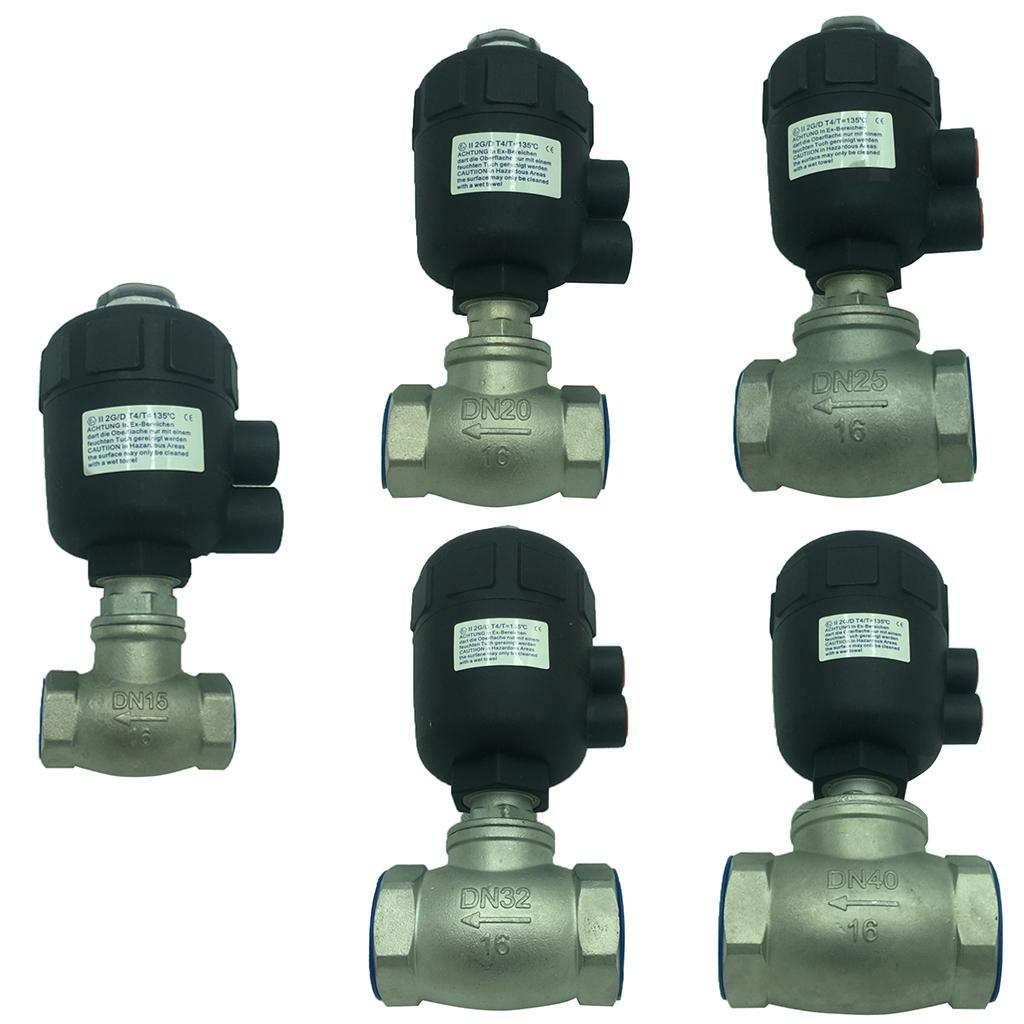 thumbnail 3 - Steel Spigot Faucet Tap Water Oil Barrel Pneumatic Straight-through Valve