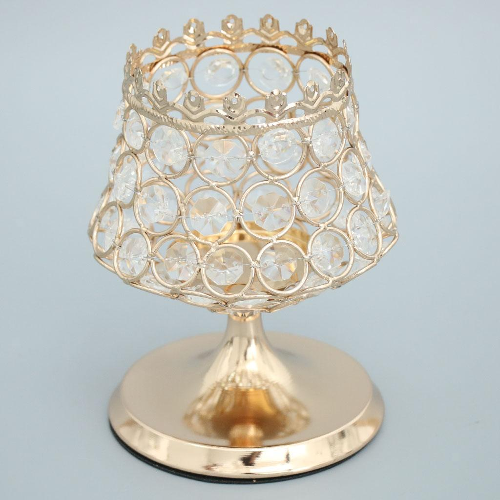 Crystal-Bling-Votive-Tealight-Candle-Holder-Wedding-Party-Venue-Centerpieces thumbnail 37