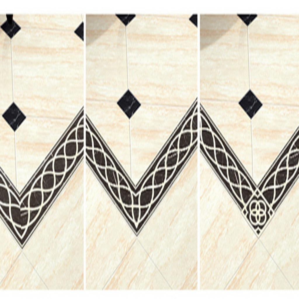 Removable Floor Tile Line Stickers Waterproof Pvc Wall Decals Home