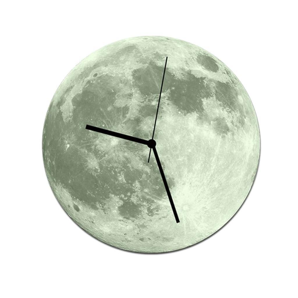 Indoor-Decorative-Wall-Clock-12inch-Luminous-Moon-Battery-Operated-Silent thumbnail 42